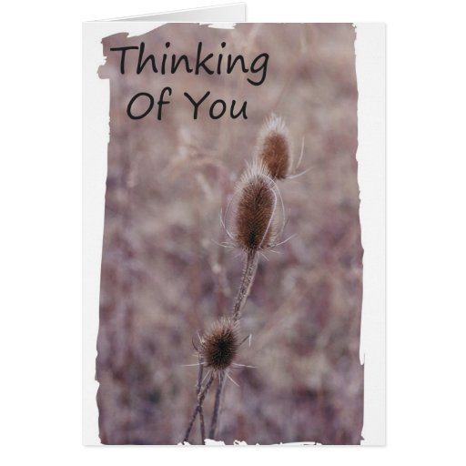 Pensamiento en usted rezos tarjeta