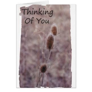 Pensamiento en usted rezos tarjeta de felicitación