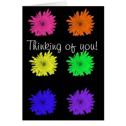 ¡Pensamiento en usted! Felicitación