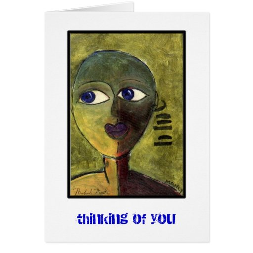 Pensamiento en usted tarjeta