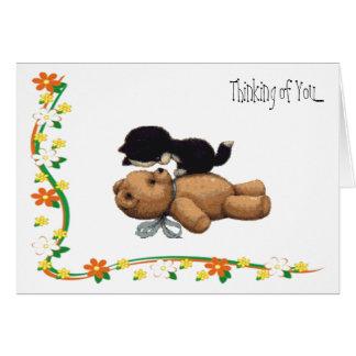 Pensamiento en usted…. tarjeta de felicitación
