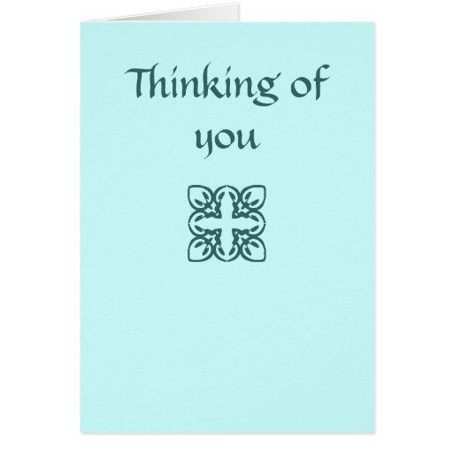 Pensamiento en usted tarjeton