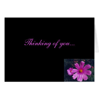 Pensamiento en usted - tarjeta