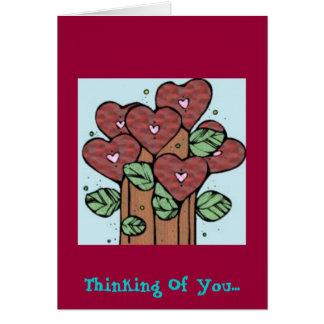 Pensamiento en usted…. tarjeta