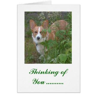 Pensamiento en usted… tarjeta