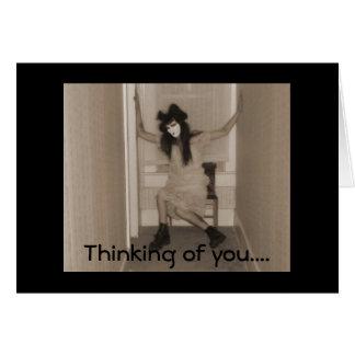 Pensamiento en usted ..... tarjeta