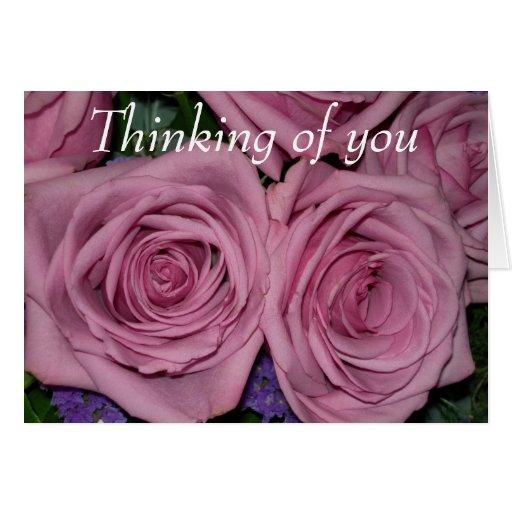 Pensamiento en usted felicitación
