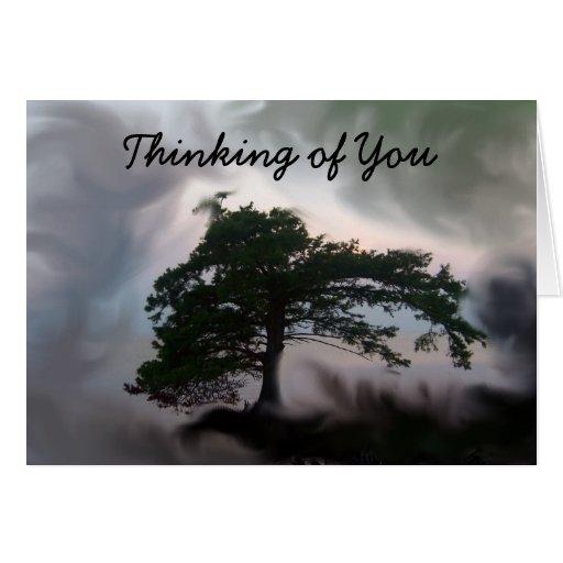 Pensamiento en usted felicitacion