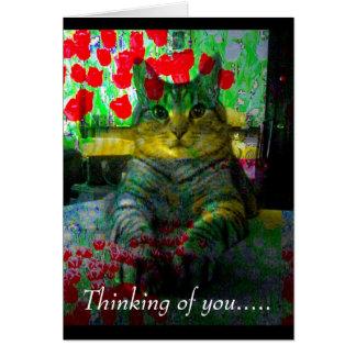 Pensamiento en usted ..... tarjeta de felicitación