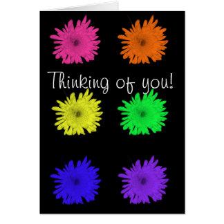 ¡Pensamiento en usted! Tarjeta De Felicitación