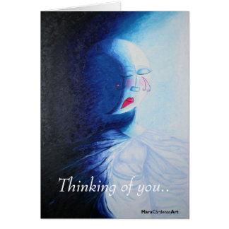 Pensamiento en usted. tarjeta de felicitación