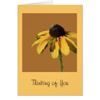 Pensamiento en usted tarjeta de felicitación con
