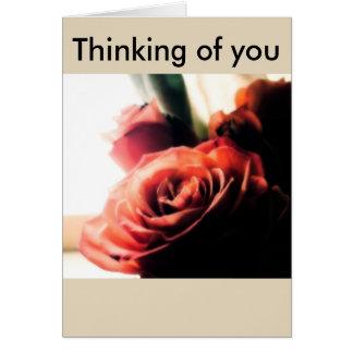 Pensamiento en usted tarjeta de felicitación de