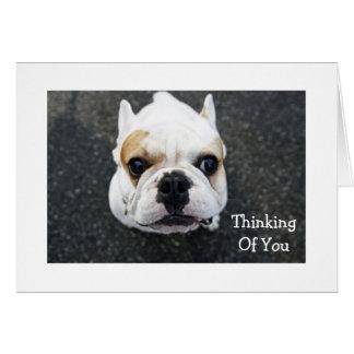 Pensamiento en usted tarjeta de felicitación del d