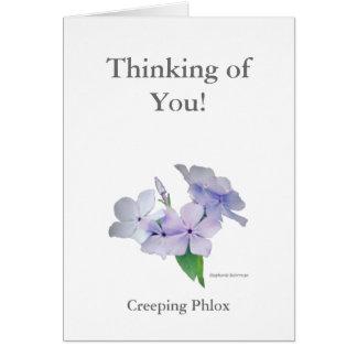 ¡Pensamiento en usted! Tarjeta de nota