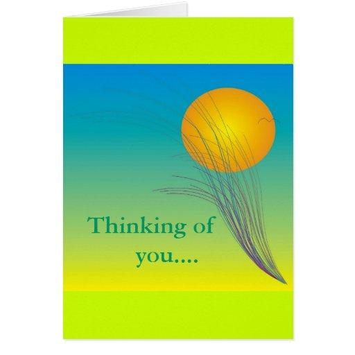 Pensamiento en usted tarjeta del arte