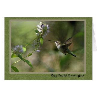 Pensamiento en usted tarjeta del colibrí