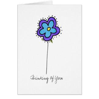 pensamiento en usted tarjeta del doodle