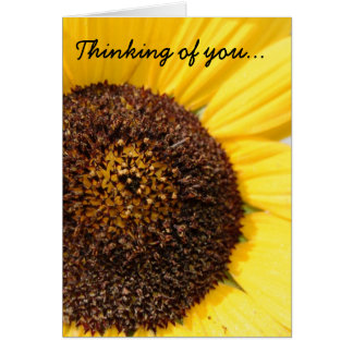 Pensamiento en usted tarjeta del girasol
