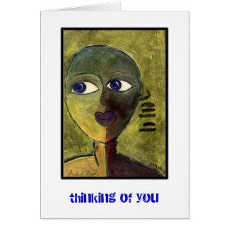 Pensamiento en usted tarjeta pequeña