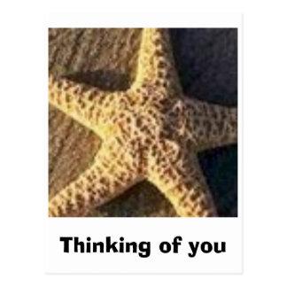 Pensamiento en usted postal