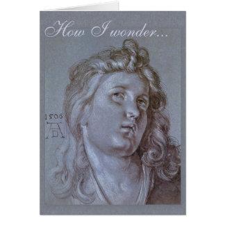 Pensamientos CC0371 del ángel de Albrecht Dürer Tarjeta De Felicitación