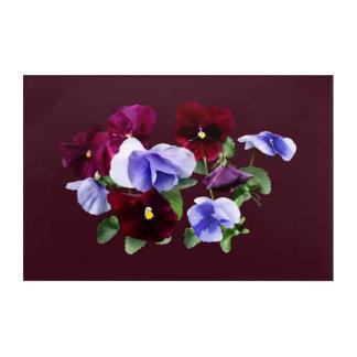 Pensamientos marrón y púrpuras impresión acrílica