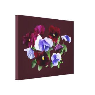 Pensamientos marrón y púrpuras lienzo