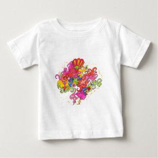Pensamientos psicodélicos camiseta de bebé