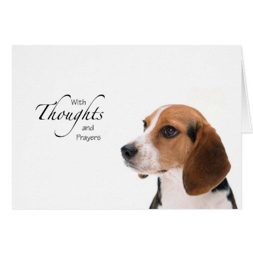 Pensamientos y rezos del perro felicitacion