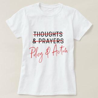 Pensamientos y rezos marzo para nuestra camiseta