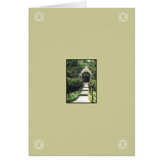 Pensamientos y rezos tarjeta pequeña