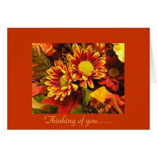 Pensando en usted, diseño del otoño tarjetas