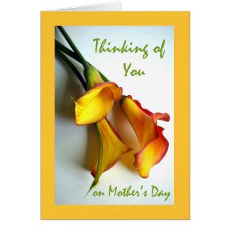 Pensando en usted el el día de madre, calas tarjeta de felicitación
