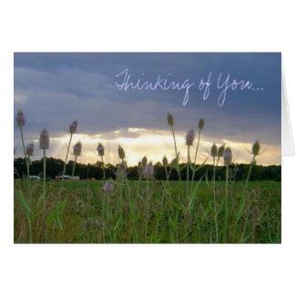 """Pensando en usted"" notecard de la foto Tarjeta"