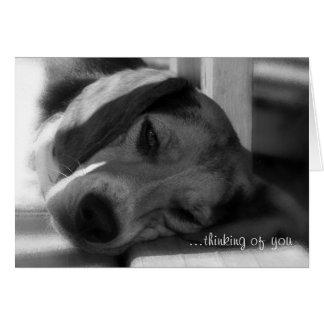 … pensando en usted saludo Snoopy del perro del ta Tarjeta Pequeña