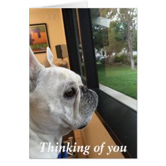 """""""Pensando en usted"""" tarjeta de felicitación"""