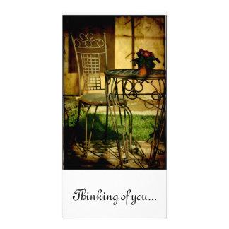 Pensar-de-usted… pensando en usted… tarjetas fotográficas personalizadas