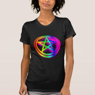 pentáculo tridimensional #3 del arco iris camisas