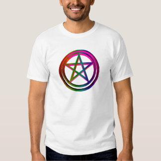 pentáculo tridimensional camisetas