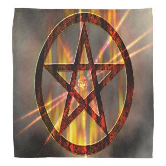 Pentagram ardiente bandanas
