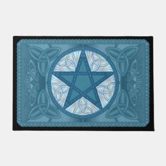 Pentagram céltico, Tri-Quatras azules y pájaros #1