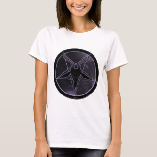 Pentagram púrpura camiseta