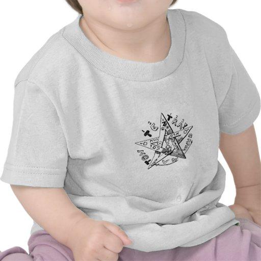 Pentagram satánico camisetas