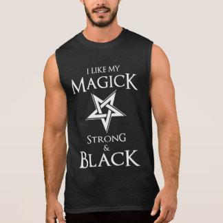Pentagram satánico y del gótico de la magia negra camiseta sin mangas