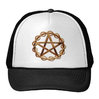 Pentagram tejido de Wicca Gorra