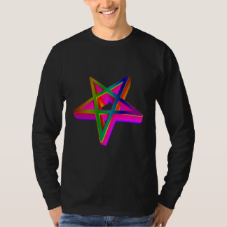 Pentagram tridimensional invertido camisetas