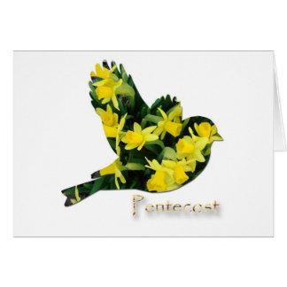 Pentecost, Espíritu Santo, flores de la primavera, Felicitacion