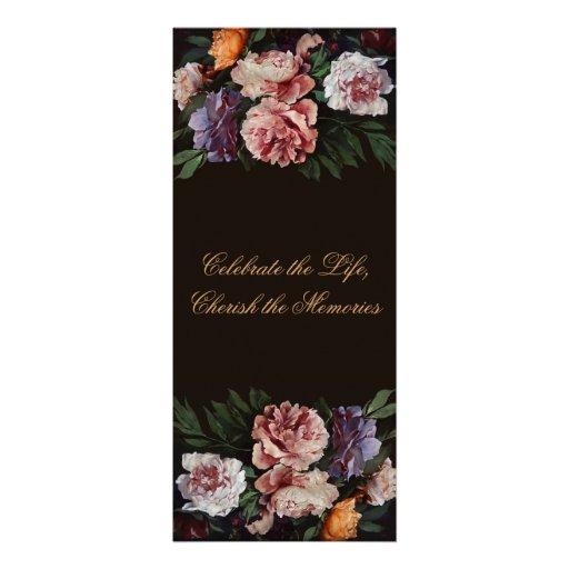 Peonies - pintura floral - invitación fúnebre