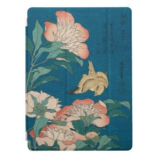 Peonies y arte amarillo GalleryHD de Hokusai del Cubierta Para iPad Pro